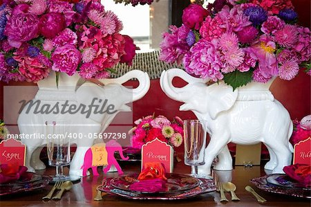 Image of a place setting for Indian wedding Stock Photo - Budget Royalty-Free, Image code: 400-05697298