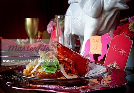 Beautiful image of a gourmet lobster dinner Stock Photo - Budget Royalty-Free, Image code: 400-05697300
