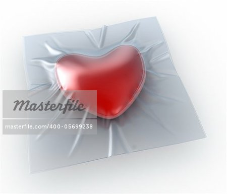 The heart sealed in transparent packing Stock Photo - Budget Royalty-Free, Image code: 400-05699238