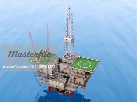 oil platform lost the blue sea