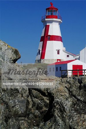 East Quaddy Light on the east coast of New Brunswick Stock Photo - Budget Royalty-Free, Image code: 400-05703035
