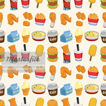 seamless fast food pattern Stock Photo - Budget Royalty-Free, Image code: 400-05704900