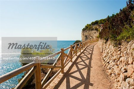 Coastal walking trail, a beautiful outlook on the Mediterranean