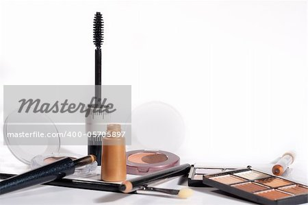 makeup set with pastel colors