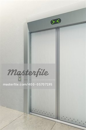 modern elevator with closed doors Stock Photo - Budget Royalty-Free, Image code: 400-05707195