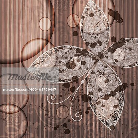 eps 10, vector abstract butterfly on grunge background