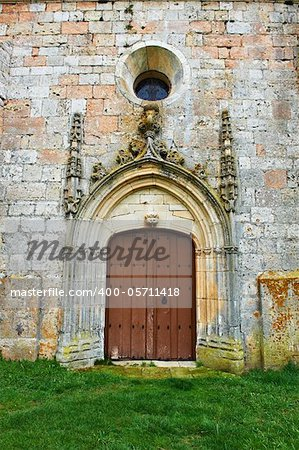 Detail of  Portal of the Romanesque Church in Spain Stock Photo - Budget Royalty-Free, Image code: 400-05711418