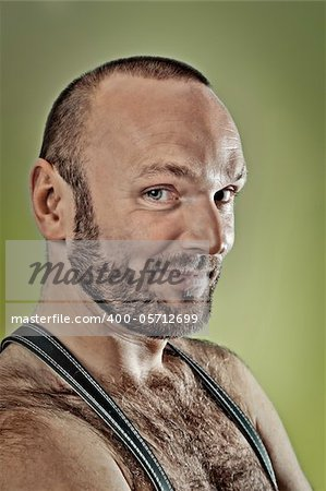 An image of a hairy man with a beard Stock Photo - Budget Royalty-Free, Image code: 400-05712699