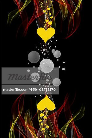 Beautiful abstract background of floral and flames