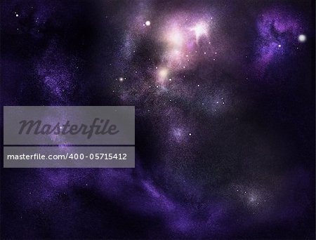 Digital created starfield with cosmic Nebula Stock Photo - Budget Royalty-Free, Image code: 400-05715412
