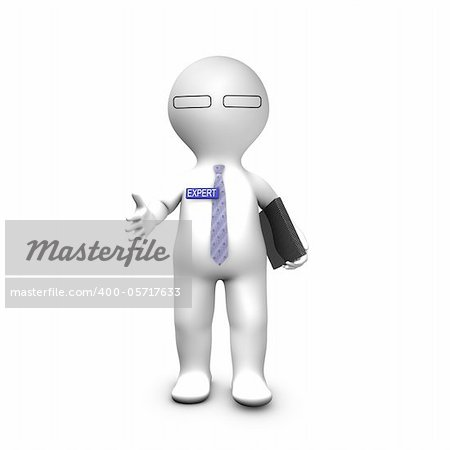 Expert consultant stretching his hand for a handshake Stock Photo - Budget Royalty-Free, Image code: 400-05717633
