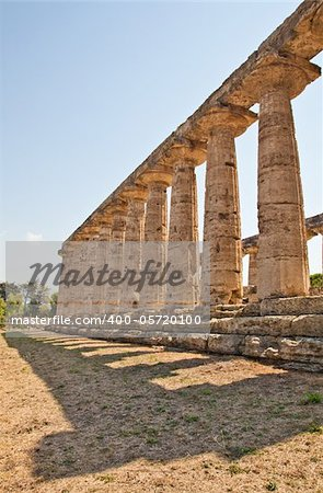 The main features of the site today are the standing remains of three major temples in Doric style, dating from the first half of the 6th century BC Stock Photo - Royalty-Free, Artist: Perseomedusa, Code: 400-05720100