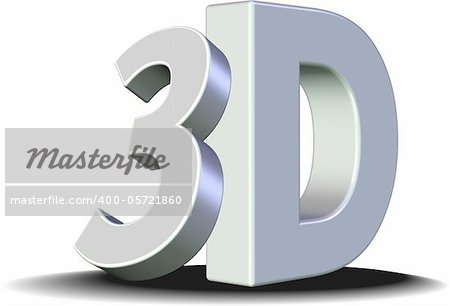 Shiny 3D sign. Stock Photo - Budget Royalty-Free, Image code: 400-05721860