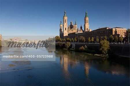 The Pilar, Zaragoza, Aragon, Spain Stock Photo - Budget Royalty-Free, Image code: 400-05723988
