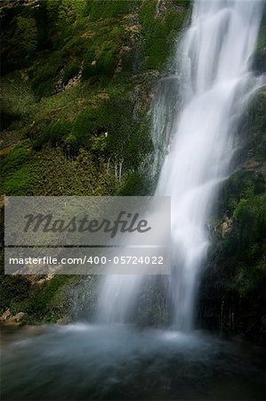 Waterfall in the Narrow pass of The Beyos, Leon, Spain Stock Photo - Budget Royalty-Free, Image code: 400-05724022