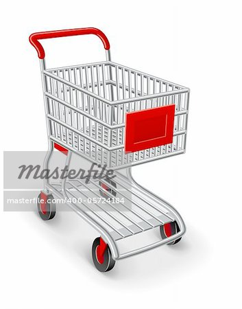 empty shopping cart vector illustration isolated on white background Stock Photo - Budget Royalty-Free, Image code: 400-05724184