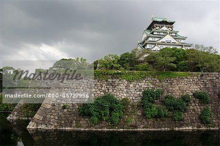 The Osaka Castle. One of Japans most famous castles