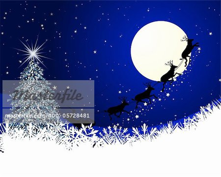 Beautiful vector Christmas (New Year) card for design use