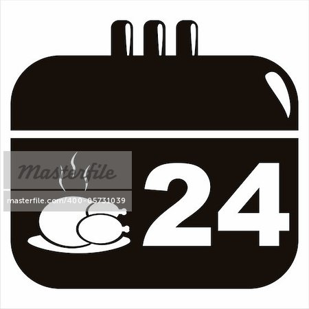 black thanksgiving day calendar icon Stock Photo - Budget Royalty-Free, Image code: 400-05731039