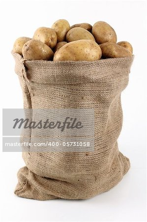 whole potatoes in sack