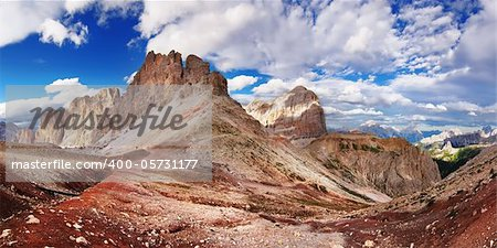 Nice view of Italian Alps - Dolomiti mountains