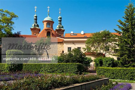 St. Lawrence Church on the Petrin hill, Prague, Czech Republic.