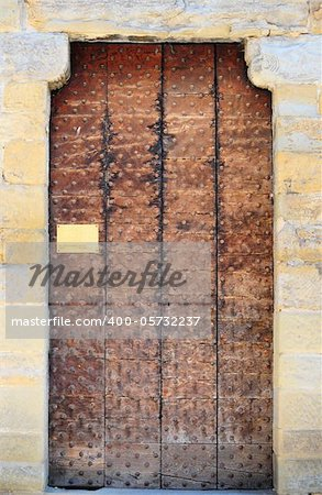 Wooden Ancient Italian Door in Historic Center of Arezzo Stock Photo - Budget Royalty-Free, Image code: 400-05732237