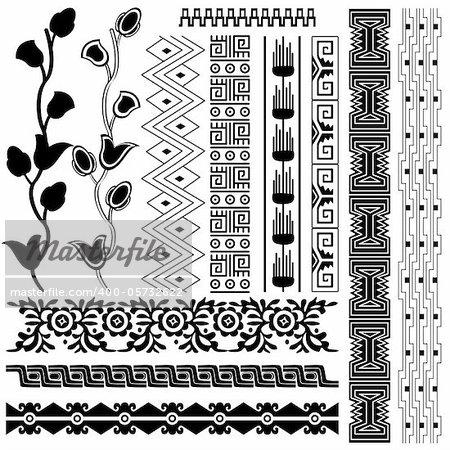 Vector image of ancient american pattern on white Stock Photo - Budget Royalty-Free, Image code: 400-05732622