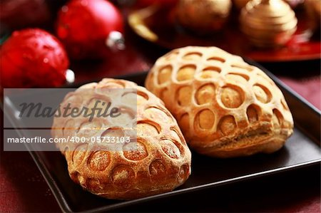 Delicious Christmas bread filled with ham Stock Photo - Budget Royalty-Free, Image code: 400-05733103