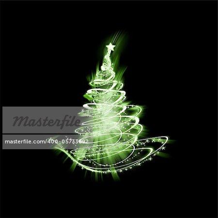 An image of a nice green christmas tree of light