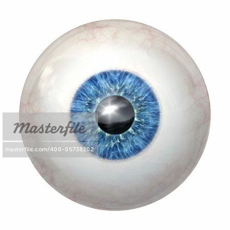 An image of a blue eye ball