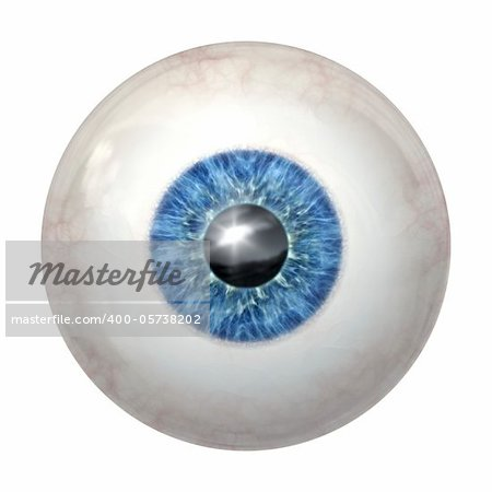 An image of a blue eye ball