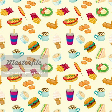 seamless fast food pattern Stock Photo - Budget Royalty-Free, Image code: 400-05745147