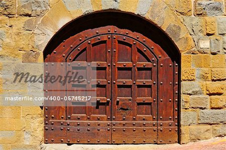 Close-up Image Of Wooden Ancient Italian Door Stock Photo - Budget Royalty-Free, Image code: 400-05745217