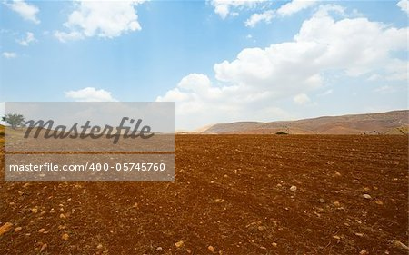 Plowed Field Against the Rocky Hills of Samaria, Israel Stock Photo - Royalty-Free, Artist: gkuna, Code: 400-05745760