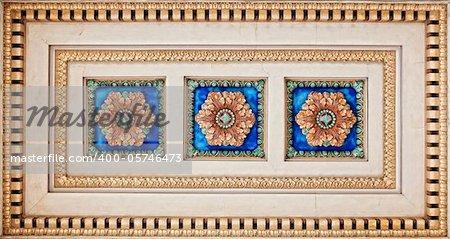 ornamental antique bas-relief close-up photo