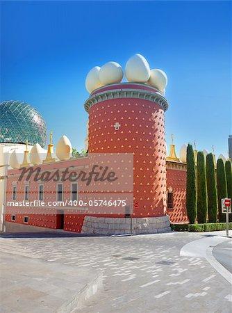 famous Salvador Dali museum in Figueras, Spain