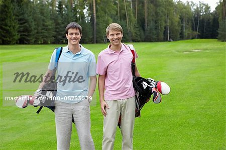 Two men on golf course