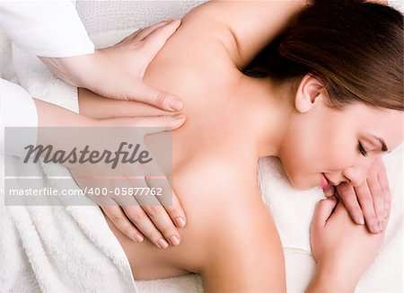 Pretty young women relaxing in the spa salon Stock Photo - Budget Royalty-Free, Image code: 400-05877762