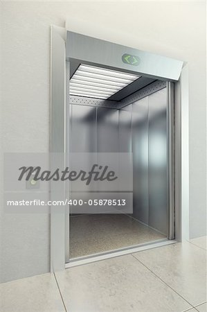 modern elevator with open doors Stock Photo - Budget Royalty-Free, Image code: 400-05878513
