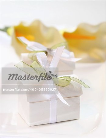 Small present for guests by first holy communion Stock Photo - Budget Royalty-Free, Image code: 400-05890927