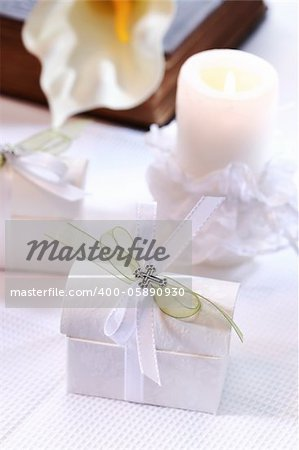 Small present for guests by first holy communion Stock Photo - Budget Royalty-Free, Image code: 400-05890930