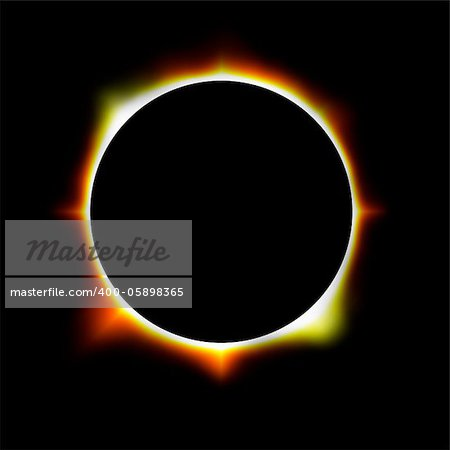 illustration of an eclipse Stock Photo - Budget Royalty-Free, Image code: 400-05898365