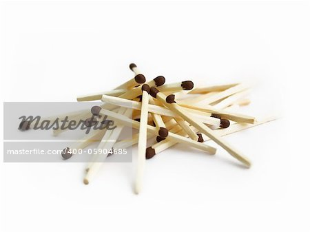 matches on white background Stock Photo - Budget Royalty-Free, Image code: 400-05904685