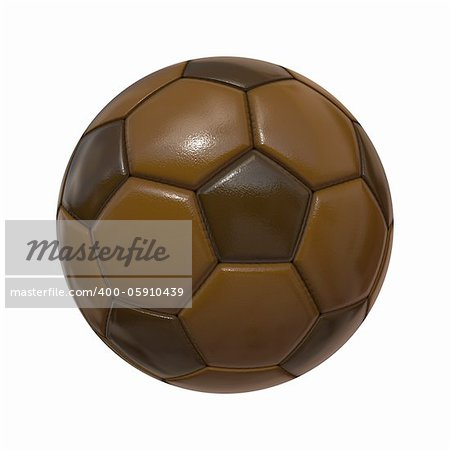 An image of an isolated soccer ball chocolate