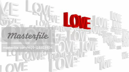 True love concept. Isolated on white background. 3d rendered. Stock Photo - Budget Royalty-Free, Image code: 400-05919924