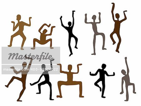 Abstract ethnic style dance. Vector  Illustration Isolated Stock Photo - Budget Royalty-Free, Image code: 400-05924022