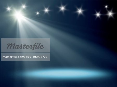 An background image with a blue stage light Stock Photo - Budget Royalty-Free, Image code: 400-05928770