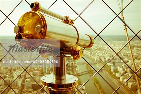 Beautiful scene in the Eiffel Tower with a view of Paris Stock Photo - Budget Royalty-Free, Image code: 400-06059896