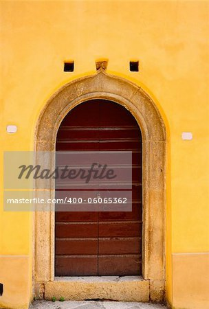 Close-up Image of Wooden Ancient Italian Door Stock Photo - Budget Royalty-Free, Image code: 400-06065362